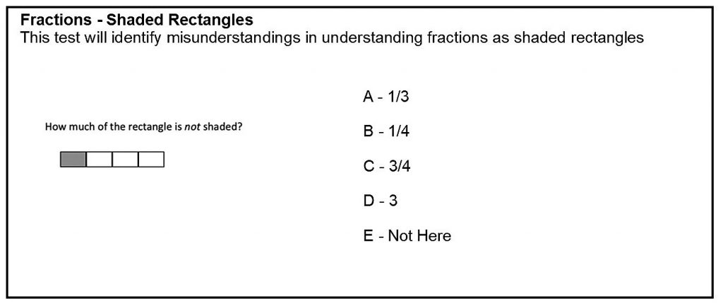 Analysis of student understanding of fractions using shaded rectangles